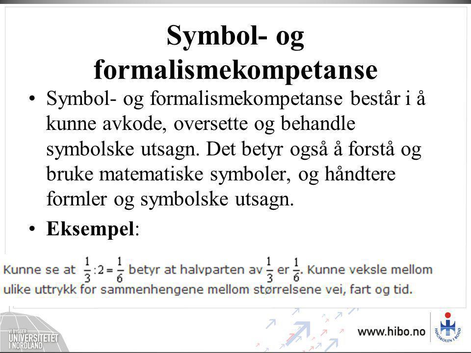 Symbol- og formalismekompetanse