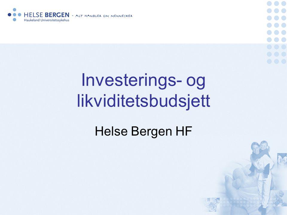 Investerings- og likviditetsbudsjett