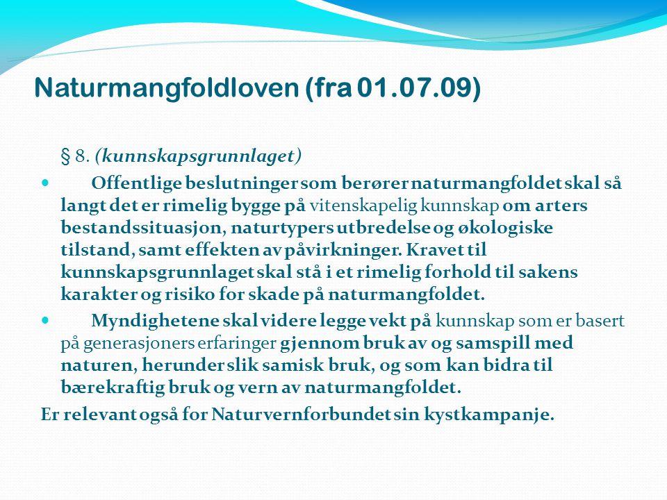 Naturmangfoldloven (fra 01.07.09)