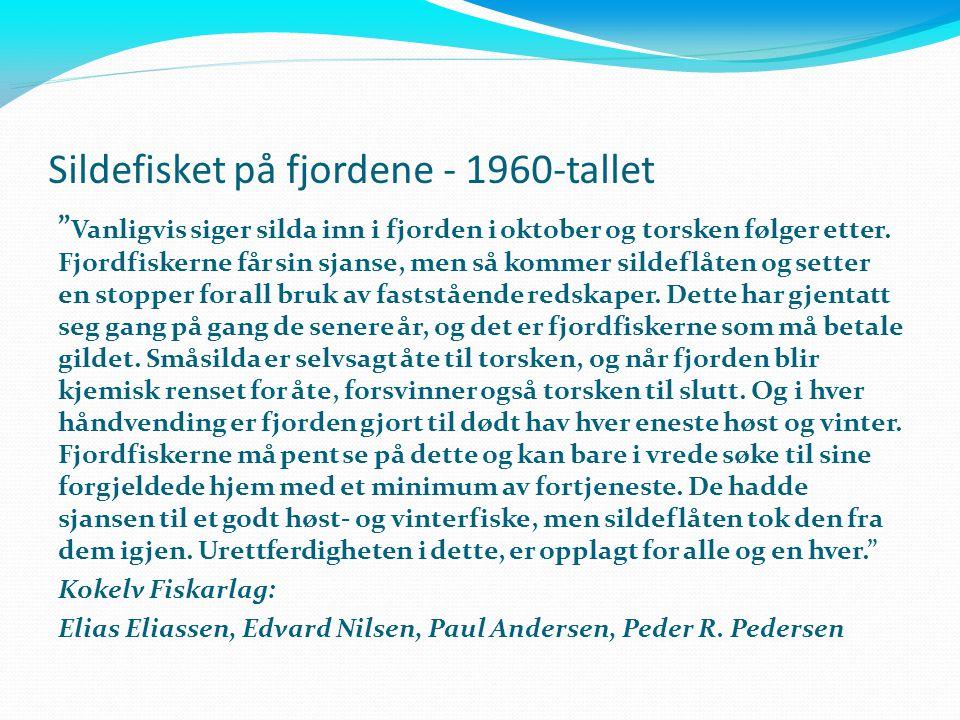 Sildefisket på fjordene - 1960-tallet