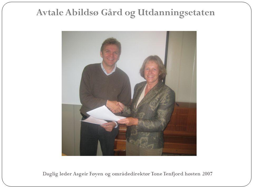 Avtale Abildsø Gård og Utdanningsetaten