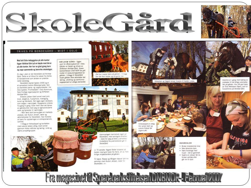 Fra magasinet til Sparebankstiftelsen DNBNOR - Februar 2007