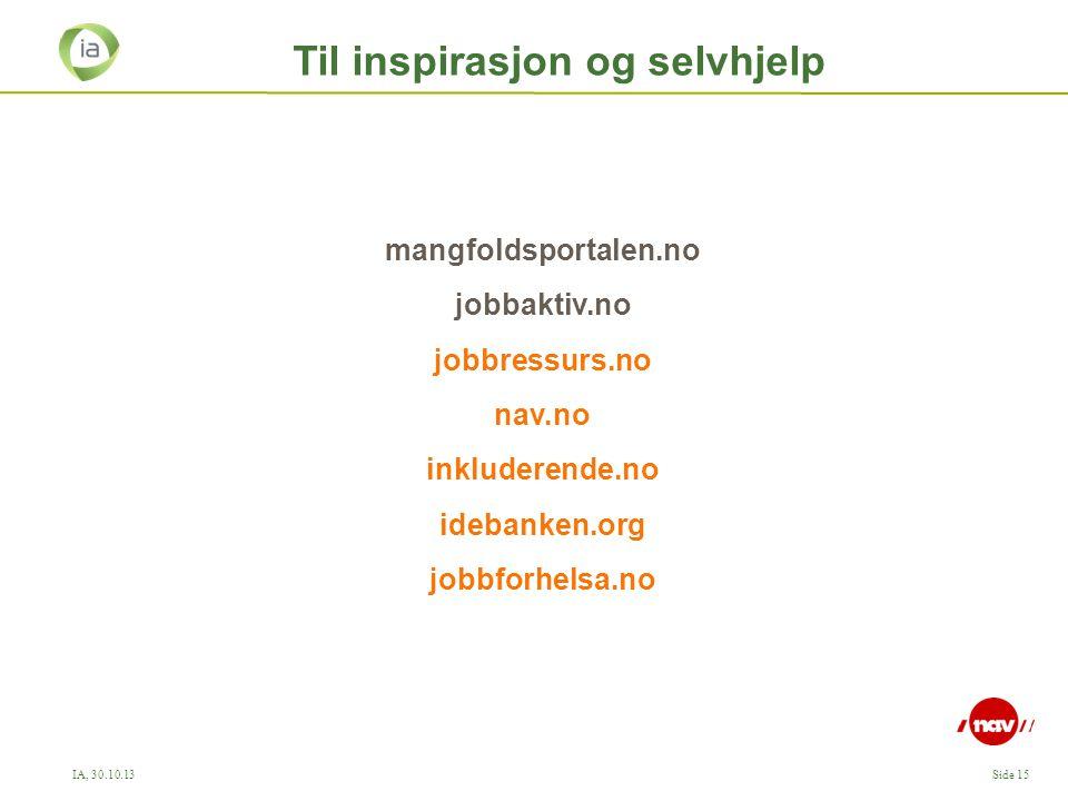 Til inspirasjon og selvhjelp