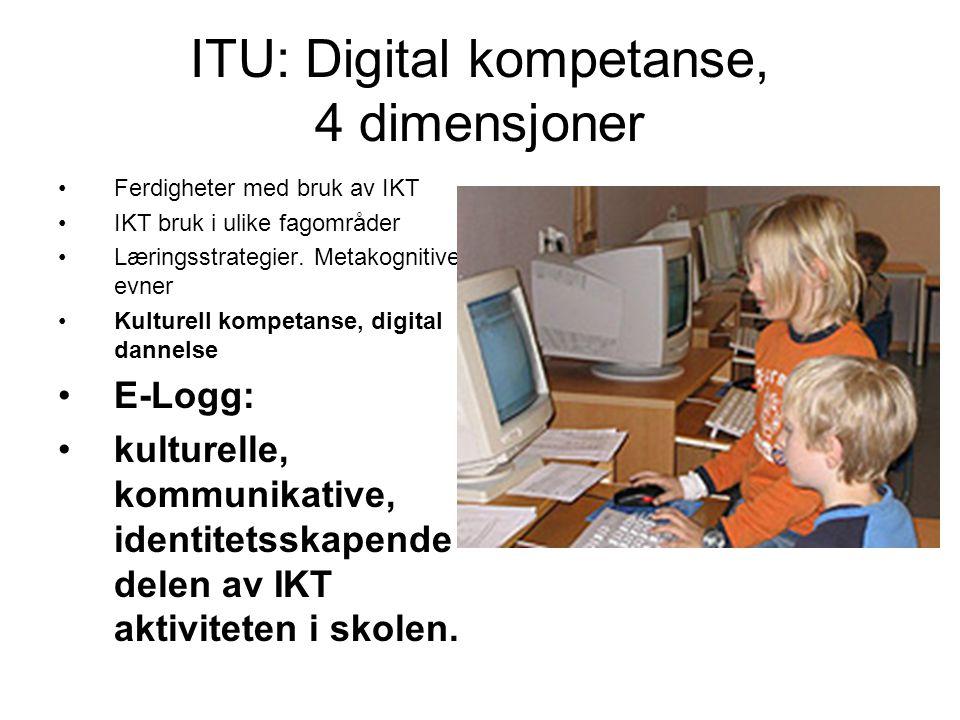ITU: Digital kompetanse, 4 dimensjoner