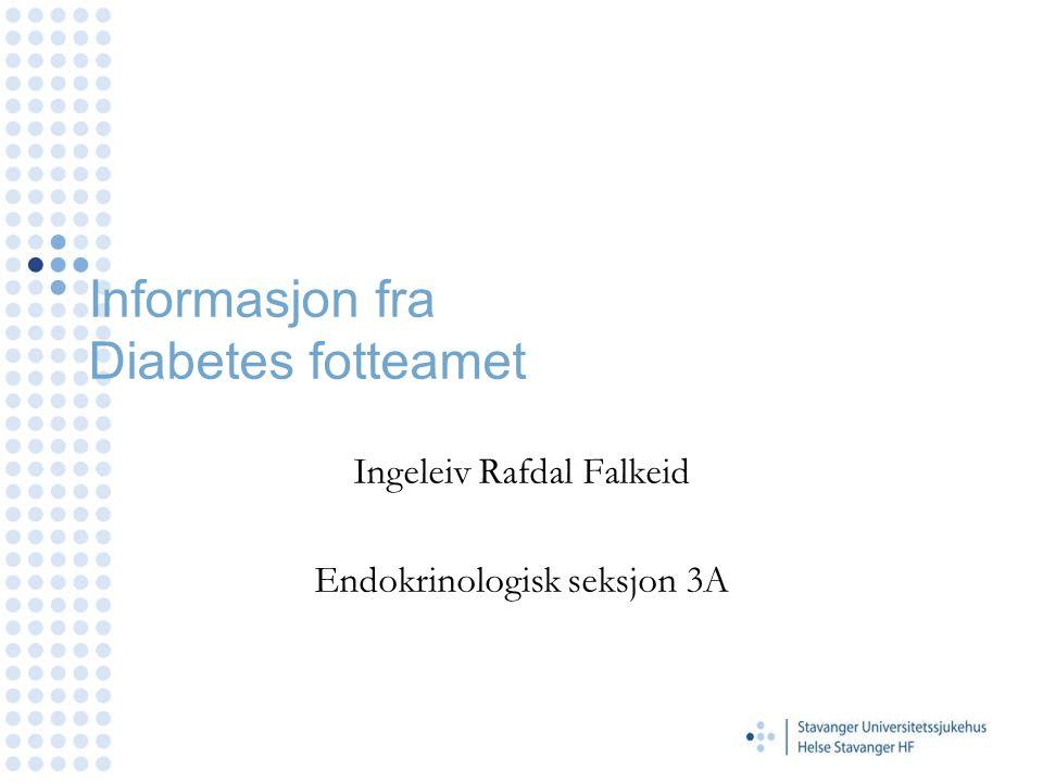 Informasjon fra Diabetes fotteamet