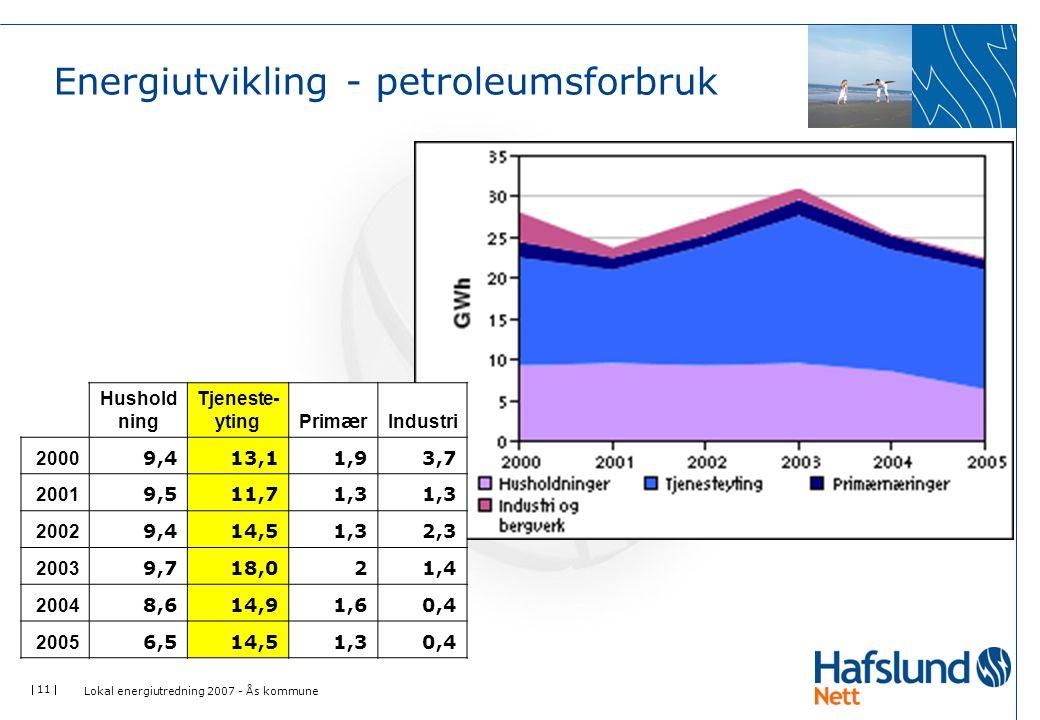 Energiutvikling - petroleumsforbruk