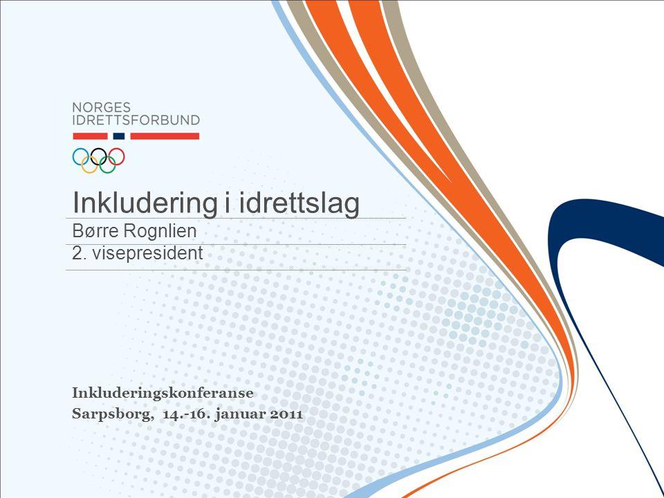 Inkludering i idrettslag Børre Rognlien 2. visepresident