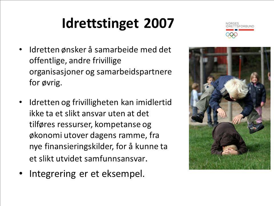 Idrettstinget 2007 Integrering er et eksempel.