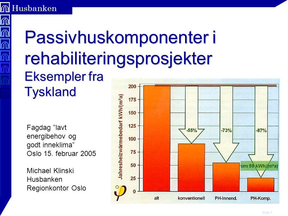 Passivhuskomponenter i rehabiliteringsprosjekter Eksempler fra Tyskland