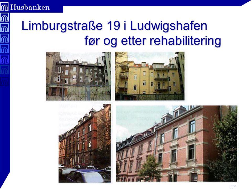 Limburgstraße 19 i Ludwigshafen før og etter rehabilitering