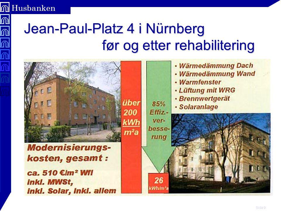 Jean-Paul-Platz 4 i Nürnberg før og etter rehabilitering
