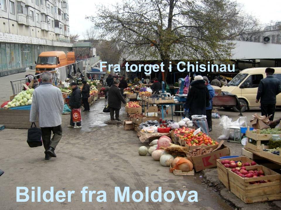 Fra torget i Chisinau Bilder fra Moldova