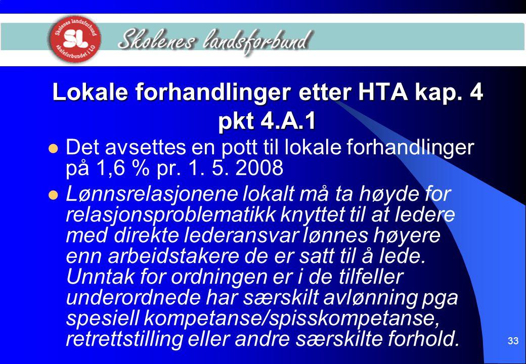 Lokale forhandlinger etter HTA kap. 4 pkt 4.A.1