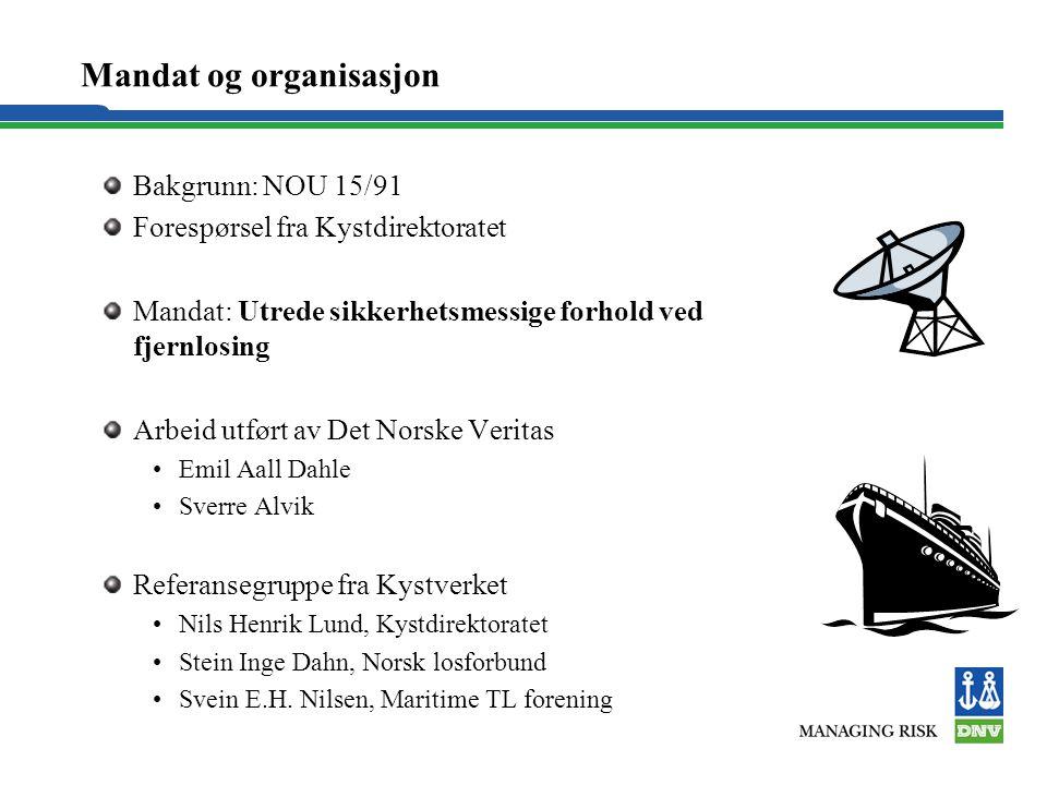 Mandat og organisasjon