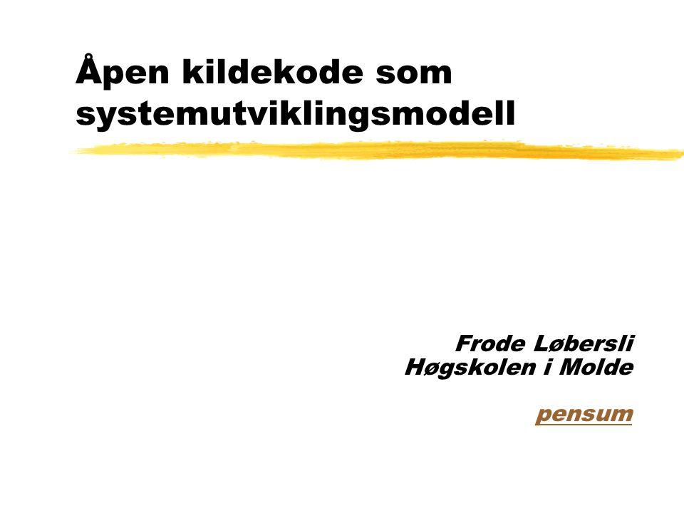 Åpen kildekode som systemutviklingsmodell