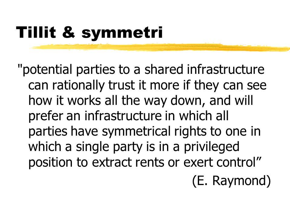 Tillit & symmetri