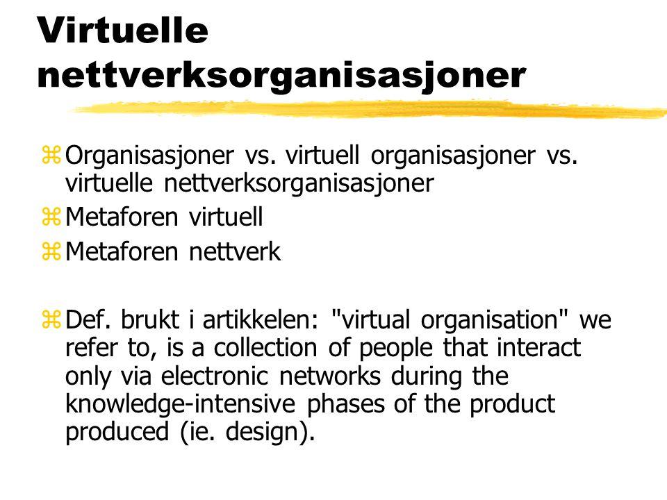 Virtuelle nettverksorganisasjoner