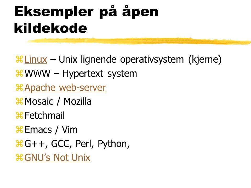 Eksempler på åpen kildekode