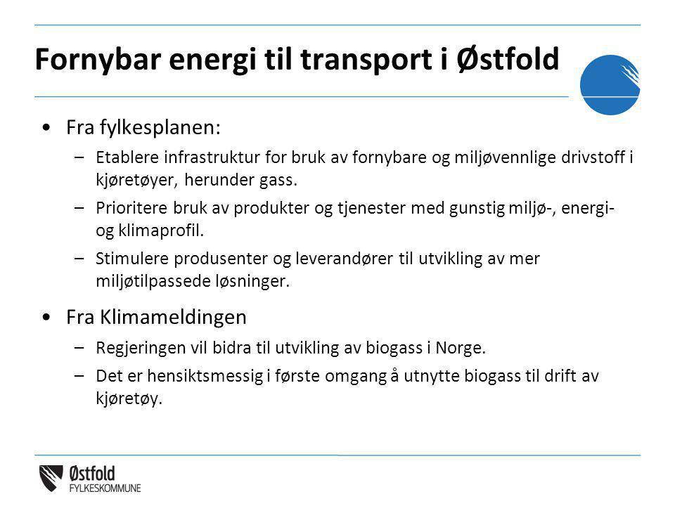 Fornybar energi til transport i Østfold