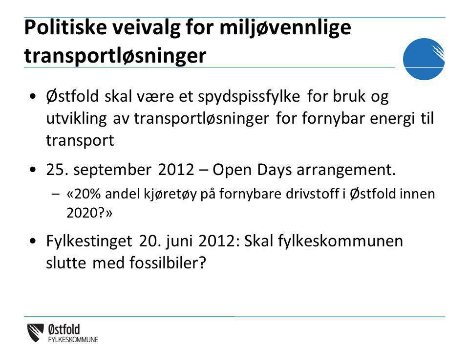 Politiske veivalg for miljøvennlige transportløsninger
