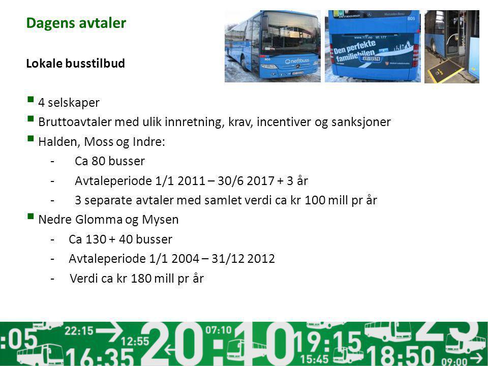 Dagens avtaler Lokale busstilbud 4 selskaper