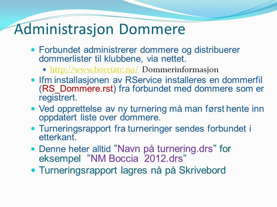Administrasjon Dommere