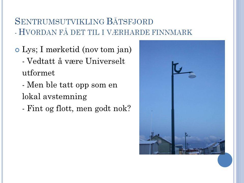 Sentrumsutvikling Båtsfjord - Hvordan få det til i værharde finnmark