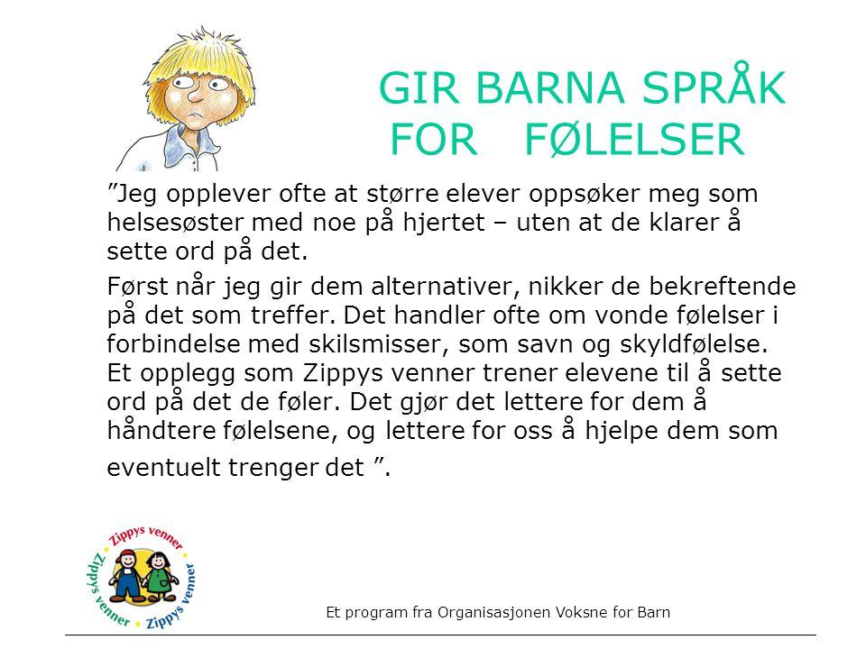 GIR BARNA SPRÅK FOR FØLELSER