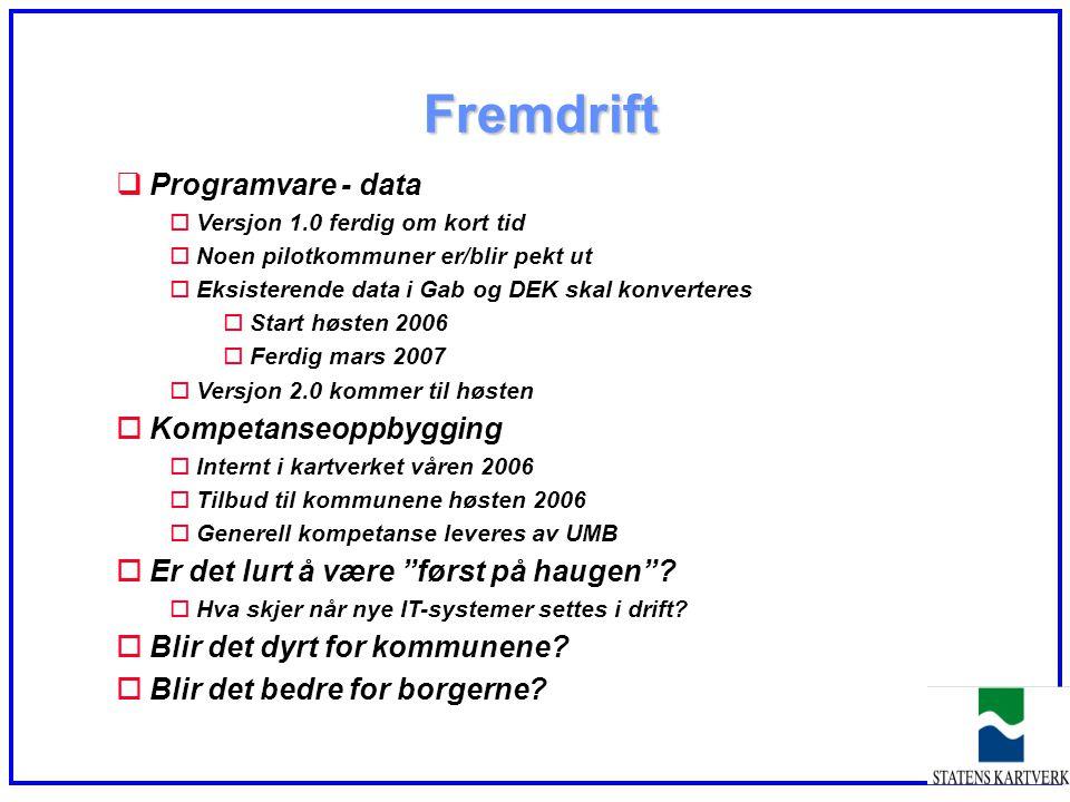 Fremdrift Programvare - data Kompetanseoppbygging