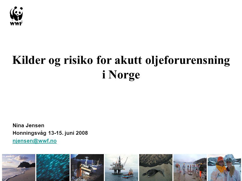 Kilder og risiko for akutt oljeforurensning i Norge