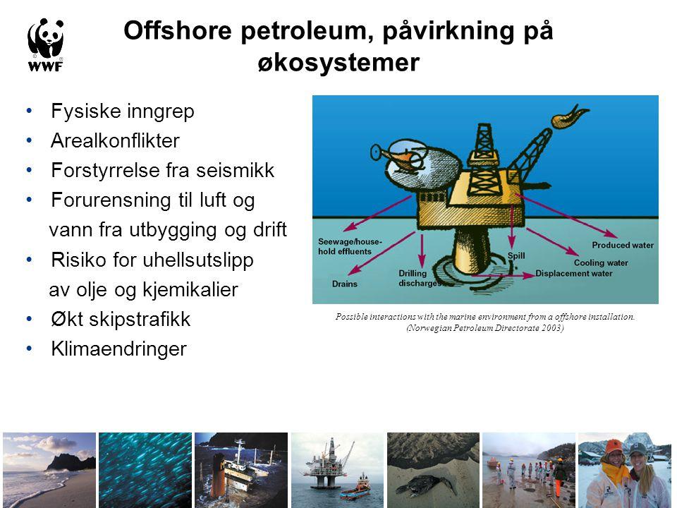 Offshore petroleum, påvirkning på økosystemer