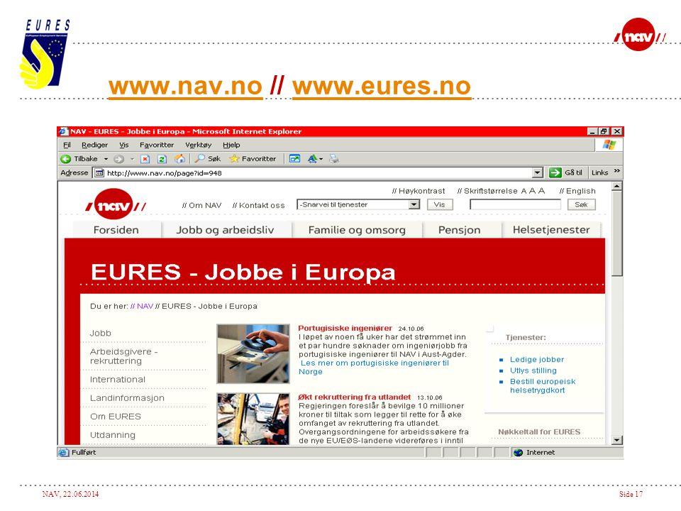 www.nav.no // www.eures.no