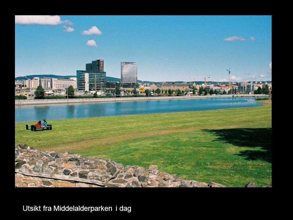 Utsikt fra Middelalderparken i dag