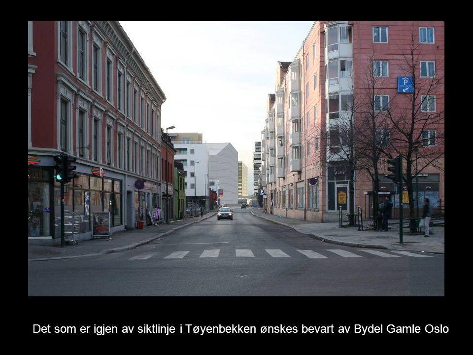 Det som er igjen av siktlinje i Tøyenbekken ønskes bevart av Bydel Gamle Oslo
