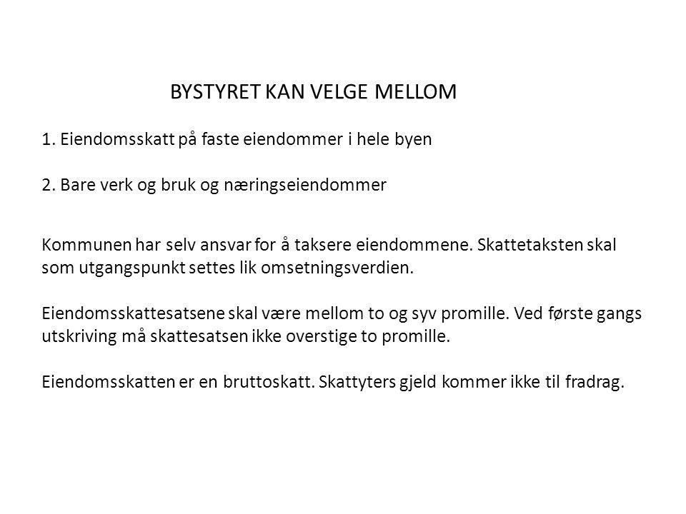 BYSTYRET KAN VELGE MELLOM 1