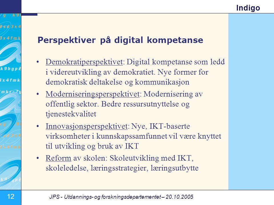 Perspektiver på digital kompetanse