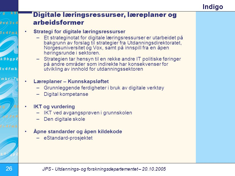 Digitale læringsressurser, læreplaner og arbeidsformer