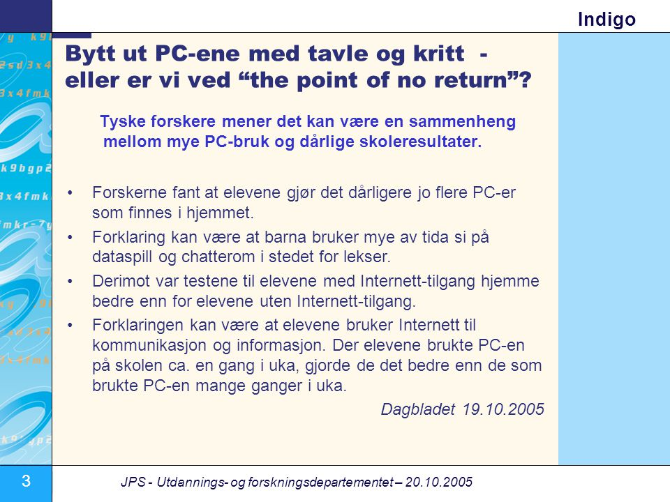 Bytt ut PC-ene med tavle og kritt - eller er vi ved the point of no return