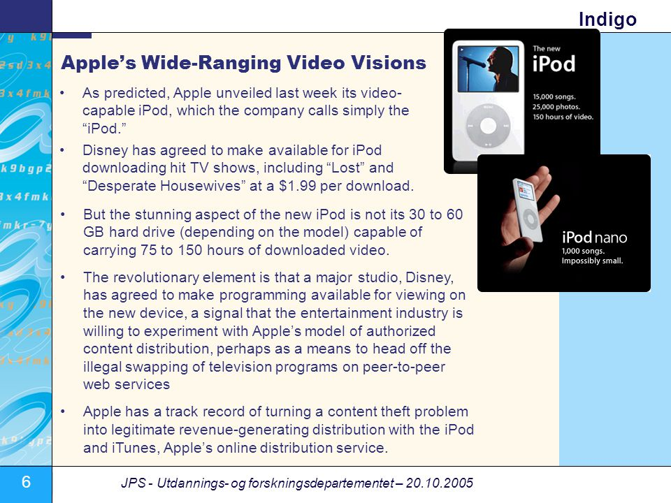 Apple's Wide-Ranging Video Visions