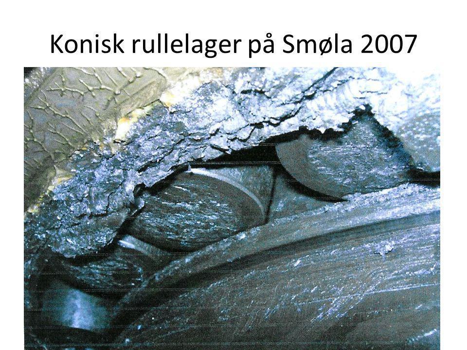 Konisk rullelager på Smøla 2007