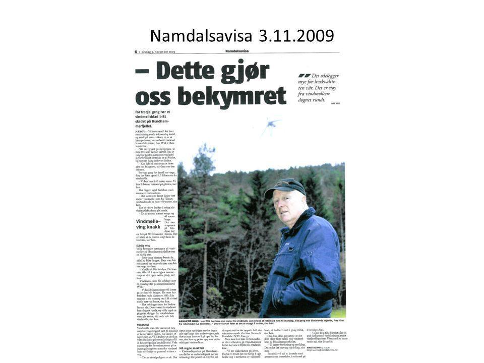 Namdalsavisa 3.11.2009
