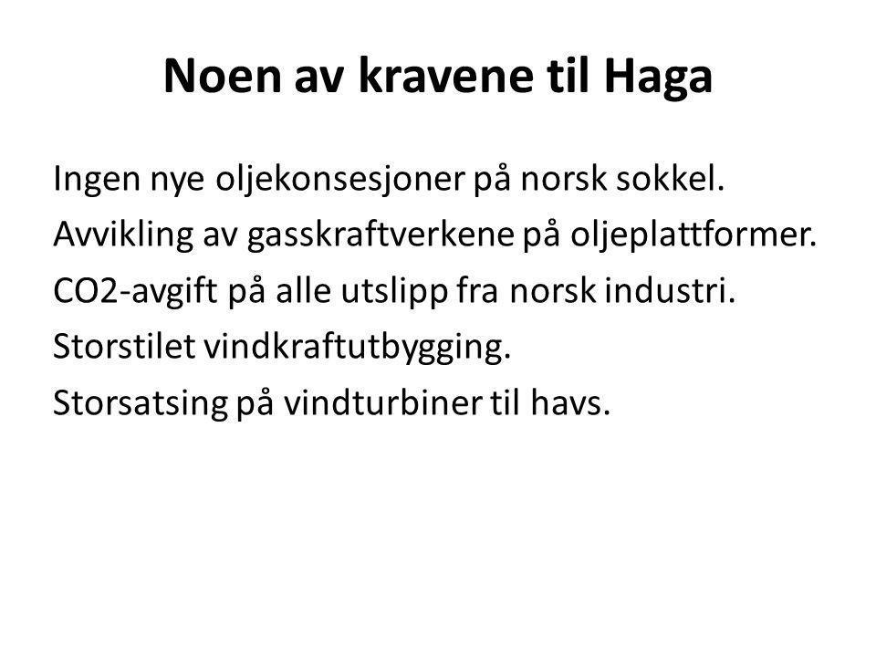 Noen av kravene til Haga