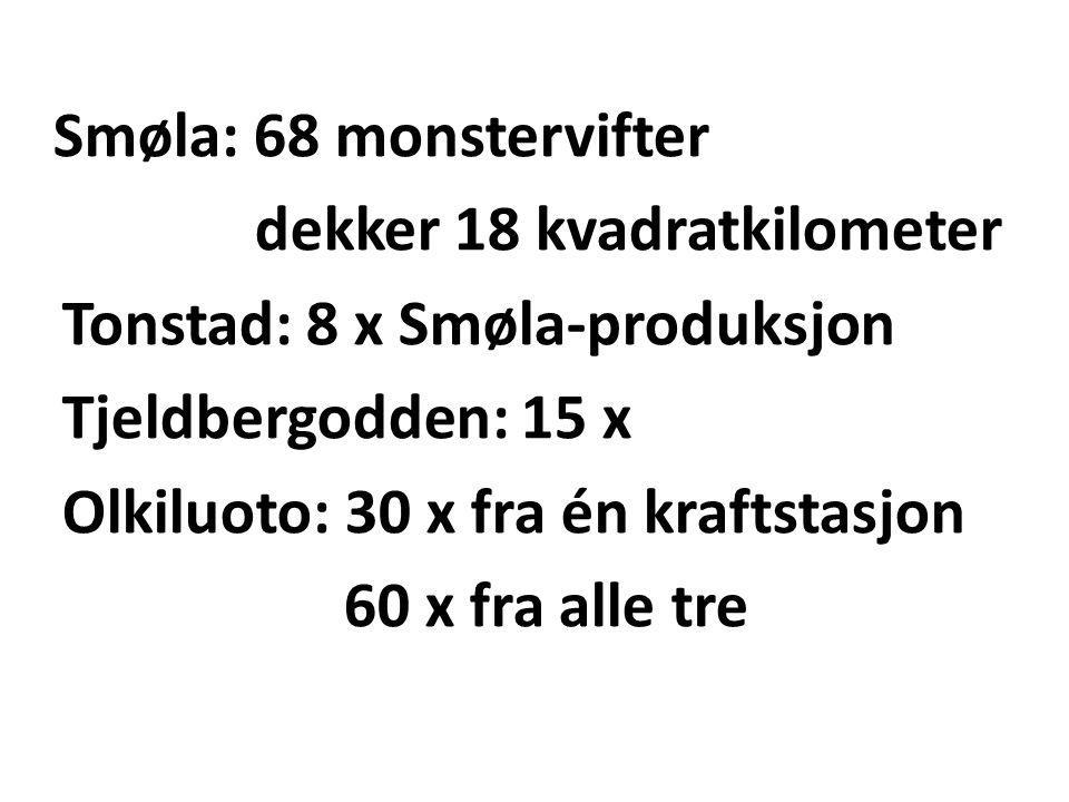 dekker 18 kvadratkilometer Tonstad: 8 x Smøla-produksjon