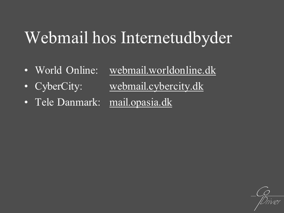 Webmail hos Internetudbyder