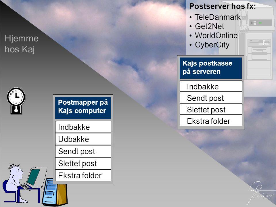 Hjemme hos Kaj Postserver hos fx: TeleDanmark Get2Net WorldOnline