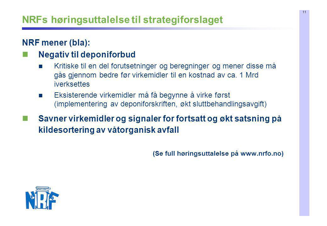 NRFs høringsuttalelse til strategiforslaget