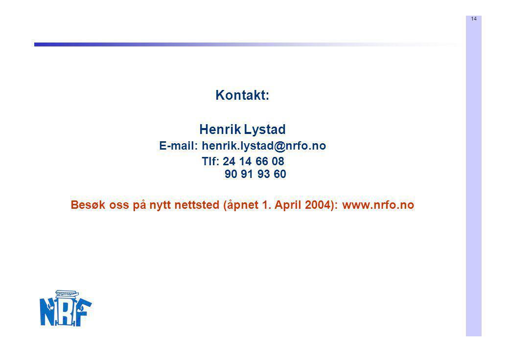 Kontakt: Henrik Lystad