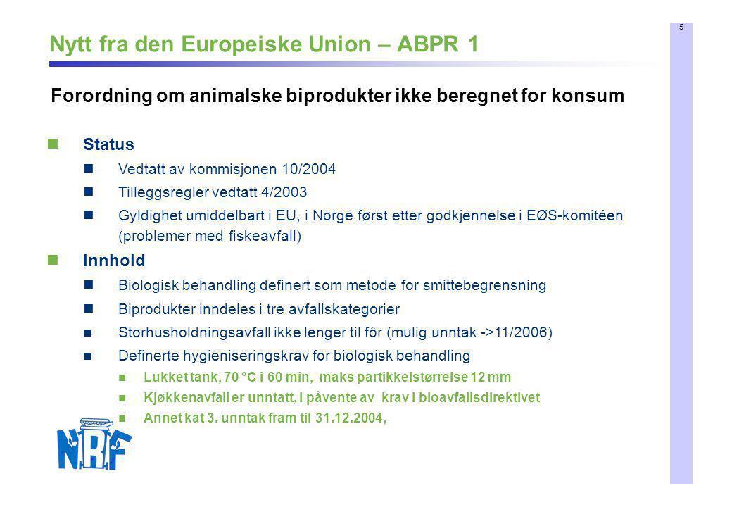 Nytt fra den Europeiske Union – ABPR 1