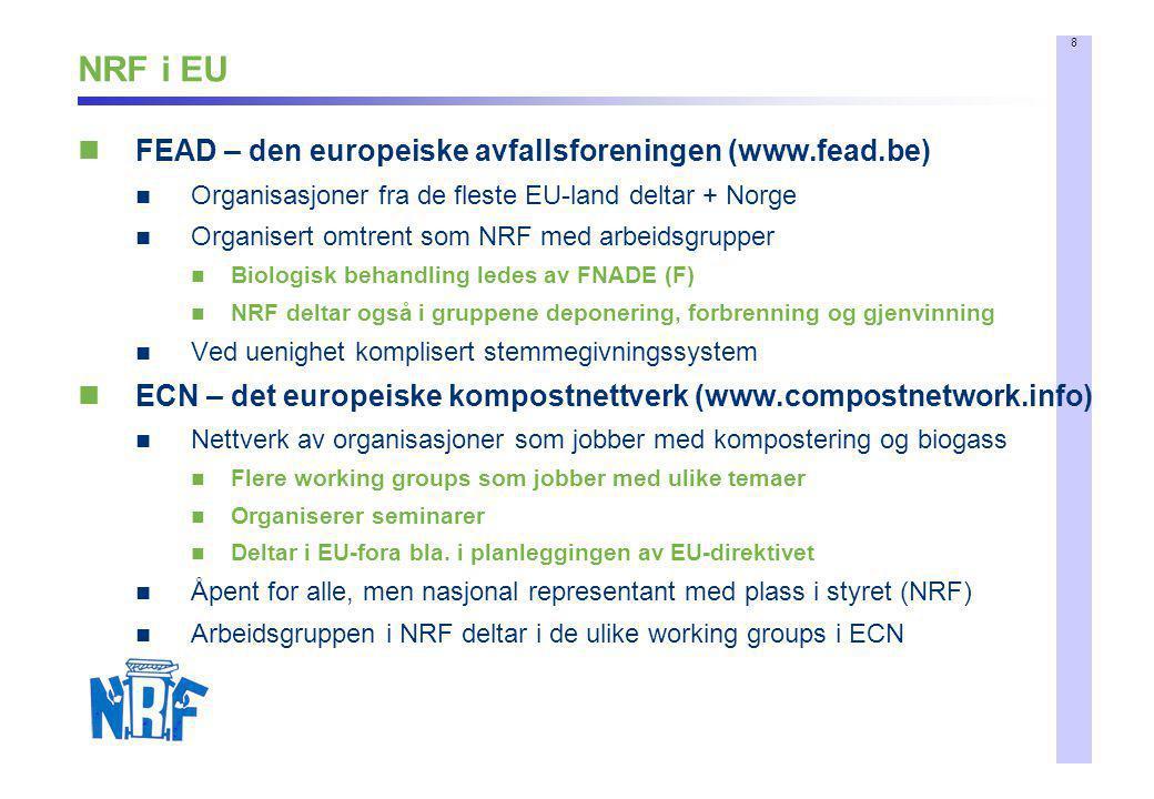 NRF i EU FEAD – den europeiske avfallsforeningen (www.fead.be)