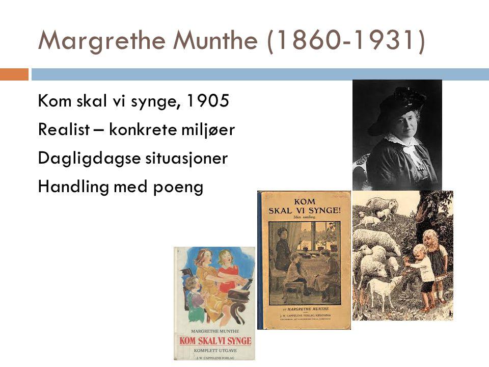 Margrethe Munthe (1860-1931) Kom skal vi synge, 1905 Realist – konkrete miljøer Dagligdagse situasjoner Handling med poeng